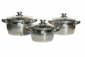 Набор нержавеющей посуды Lessner 1.7 л, 2.9 л, 3.9 л Apple 55859