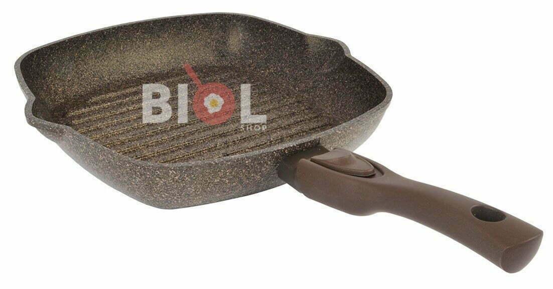 Сковорода-гриль антипригарная 28 см с крышкой купить дешево с доставкой