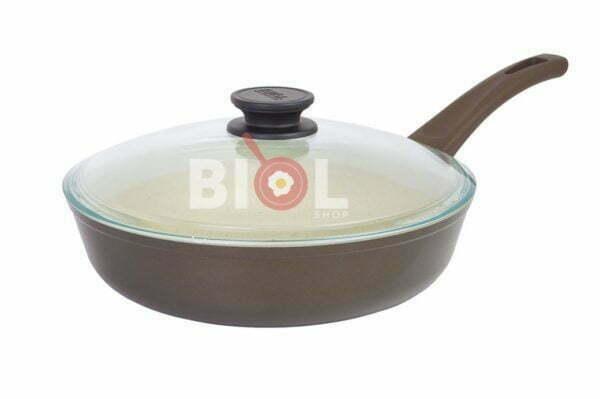 Сковорода антипригарная с крышкой 28 см Классик-Декор