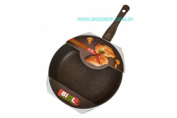 Антипригарная коричневая сковородка Биол купить