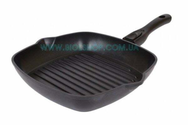 Сковорода-гриль с антипригарным покрытием 26 см и съемной ручкой Биол 2614П