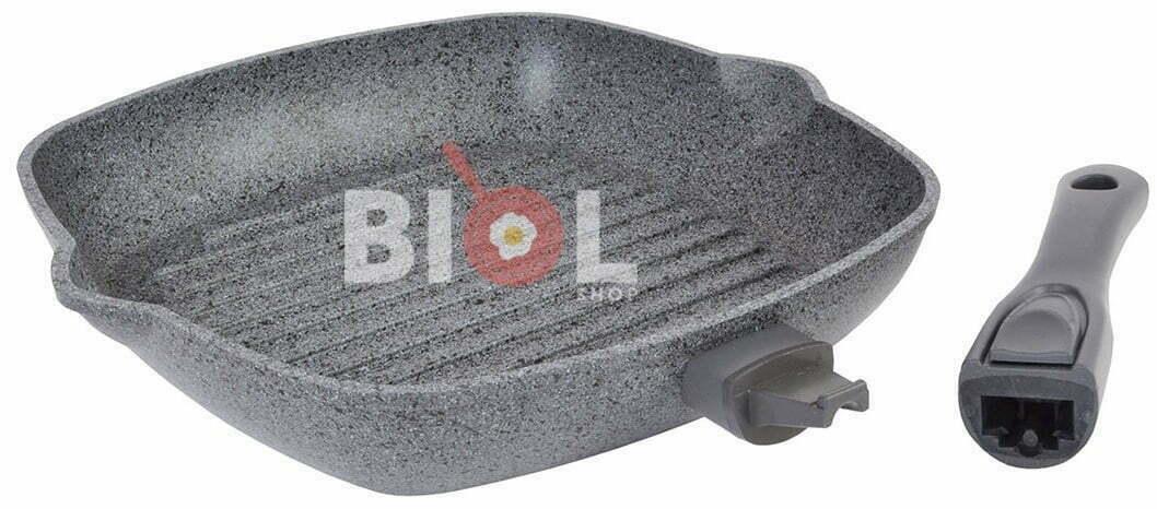 Сковорода-гриль 28 см антипригарная купить по доступной цене в Биолшоп