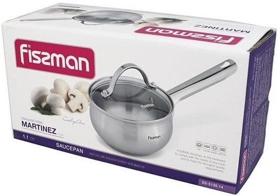 Ковш из нержавеющей стали с крышкой Fissman Martinez 1,1 л купить недорого онлайн