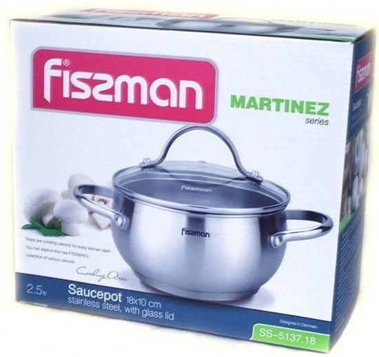 Нержавеющая кастрюля с крышкой Fissman Martinez 2,5 л лучшая цена и описание