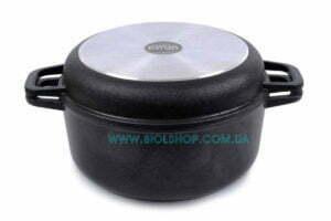 Алюминиевая кастрюля с крышкой-сковородой