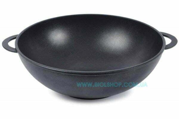 Антипригарная алюминиевая сковорода WOK черная купить онлайн