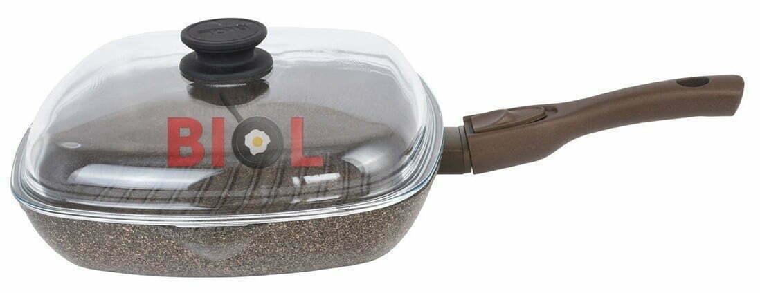 Сковорода-гриль антипригарная 28 см с крышкой отзывы и цена онлайн