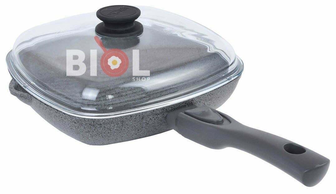 Антипригарная сковорода гриль 28 см купить дешево онлайн