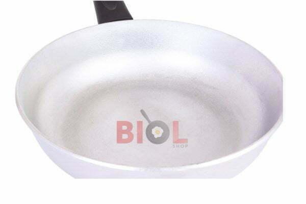 Алюминиевая сковорода 22 см Биол с ручкой и крышкой заказать в Украине