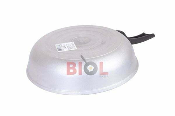 Алюминиевая сковорода 22 см Биол с ручкой и крышкой А223
