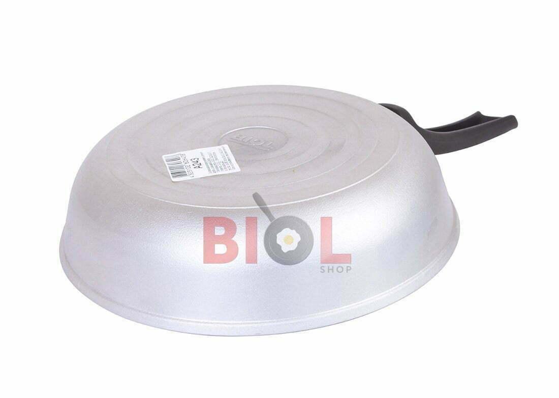 Алюминиевая сковорода Биол с крышкой и ручкой 28 см, купить онлайн
