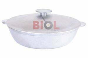 Алюминиевая сковорода с крышкой и ручками 36 см Биол