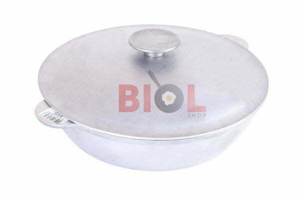 Алюминиевая сковорода с крышкой и 2 ручками Биол 32 см купить недорого