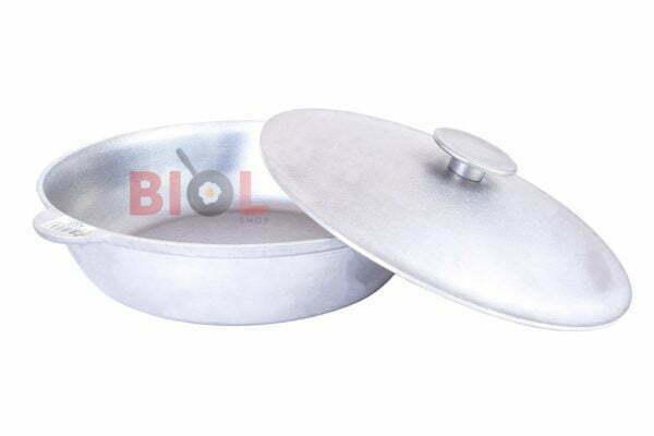 Литая сковородка из алюминия с крышкой Биол 32 см купить онлайн