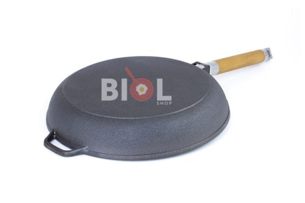 Сковорода низкая Биол съемная ручка и стеклянная крышка 20 см купить