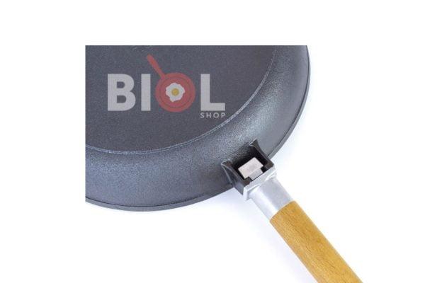 Сковорода чугунная Биол 26 см низкая со съемной ручкой купить
