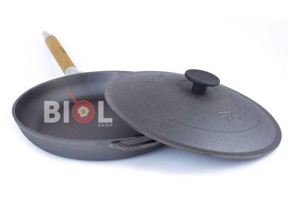 Низкая сковородка с крышкой Биол 20 см купить в Украине