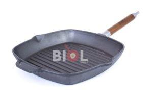 Чугунная сковорода гриль Биол со съемной ручкой 28 см 1028
