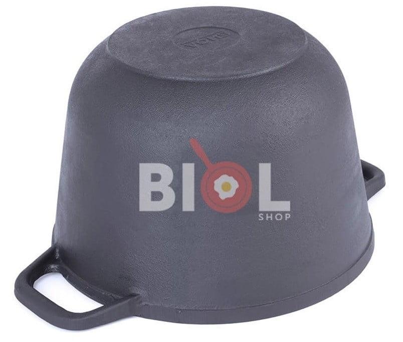 Кастрюля чугунная с крышкой-сковородой Биол 3 л 0203