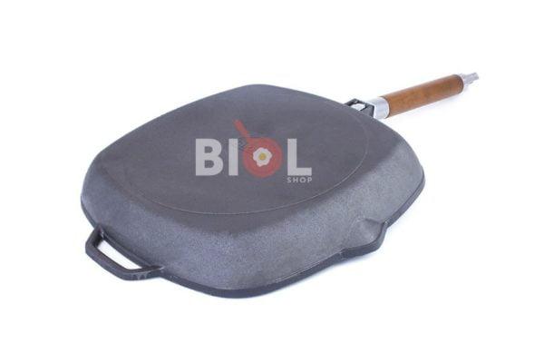 Чугунная сковорода гриль Биол со съемной ручкой 28 см заказать