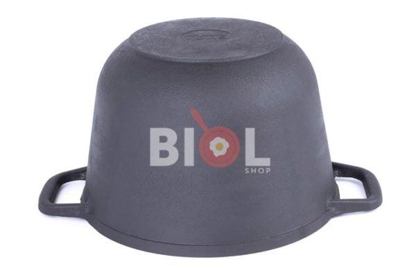 Кастрюля чугунная с крышкой-сковородой Биол 3 л заказать онлайн