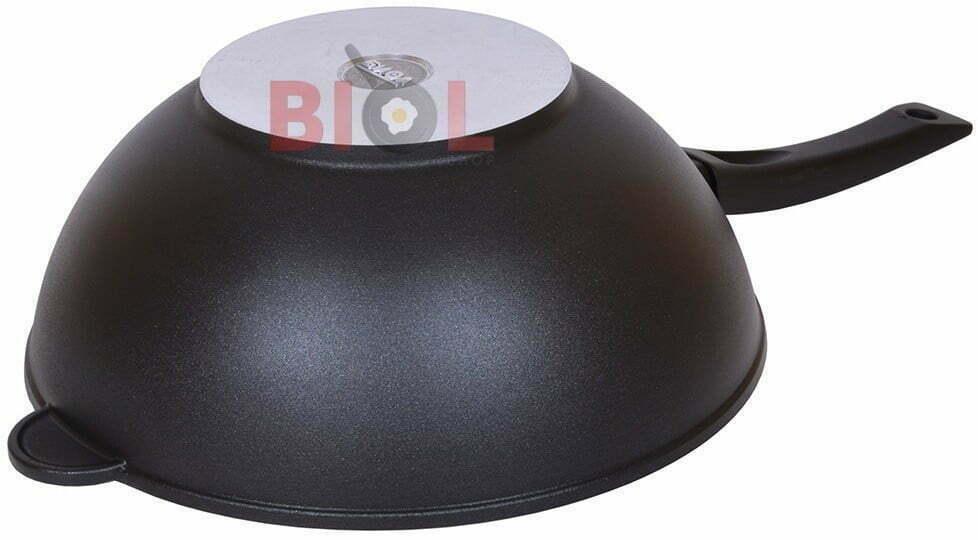Сковорода WOK из алюминия с ручкой 30 см Биол 3002П купить по низкой цене