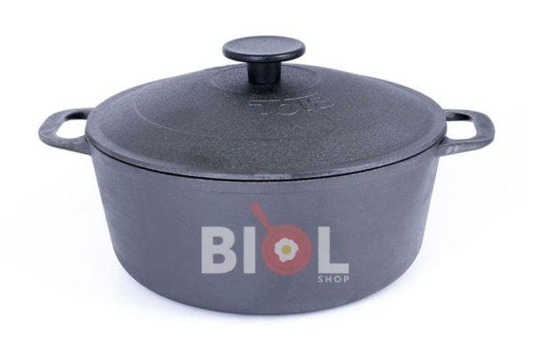 Чугунная кастрюля с крышкой Биол 3 л 0803 купить