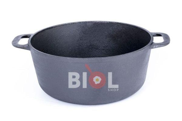 Чугунная кастрюля с крышкой Биол 3 л 0803