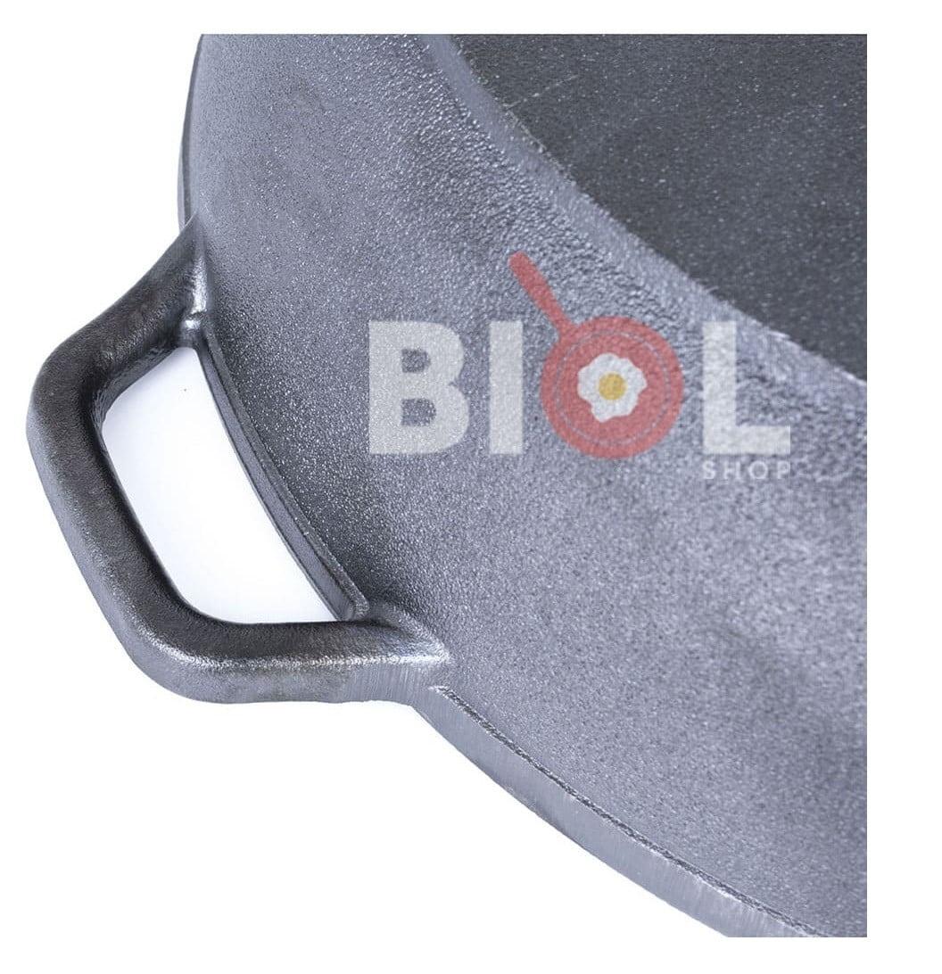 Жаровня чугунная Биол с двумя литыми ручками и стеклянной крышкой 03261с