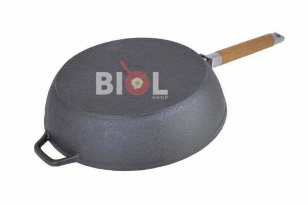 Глубокая сковорода со съемной ручкой и крышкой 24 см Классик Биол заказать