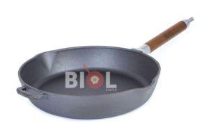 Сковорода чугунная Биол высокая линии Орион 28 см артикул - 1228