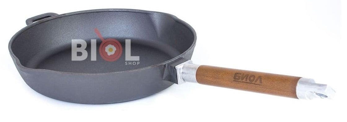 Сковорода чугунная Орион высокая с крышкой и съемной ручкой купить недорого