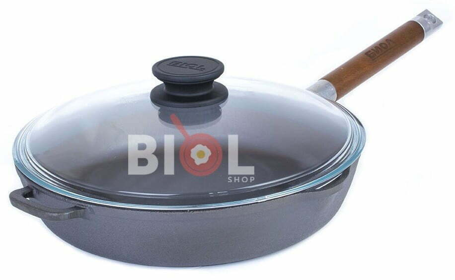 Купить чугунную сковородку со стеклянной крышкой онлайн