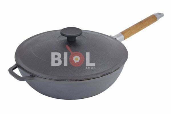 Глубокая сковорода Биол с чугунной крышкой