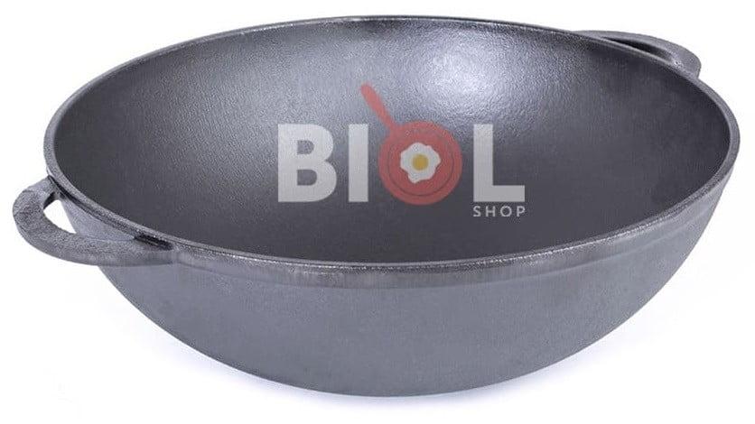 Чугунная сковорода WOK Биол с чугунной крышкой 3 л