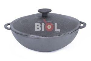 ВОК сковорода чугунная с крышкой 4 л Биол 0528