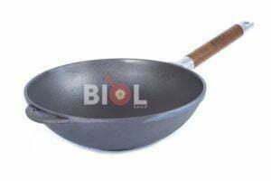 WOK чугунная сковорода с деревянной ручкой Биол 26 см 1526