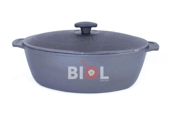 Гусятница Биол чугунная литая с крышкой 8 л 0608