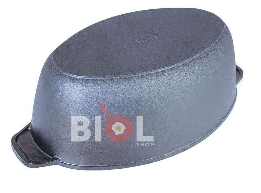 Литая чугунная гусятница с крышкой 6 л Биол 0606