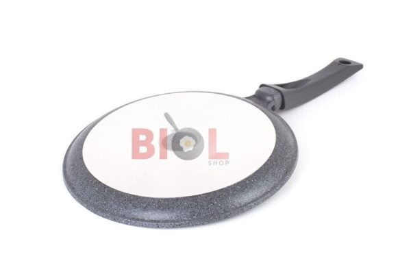 Сковорода блинная антипригарная 24 см Гранит грей Биол купить дешево