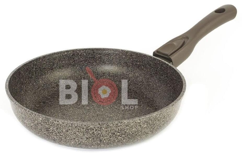 Купить тефлоновую сковородку с крышкой и съемной ручкой Биол
