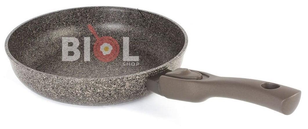 Тефлоновая сковорода 28 см Гранит-Браун купить с доставкой по Украине
