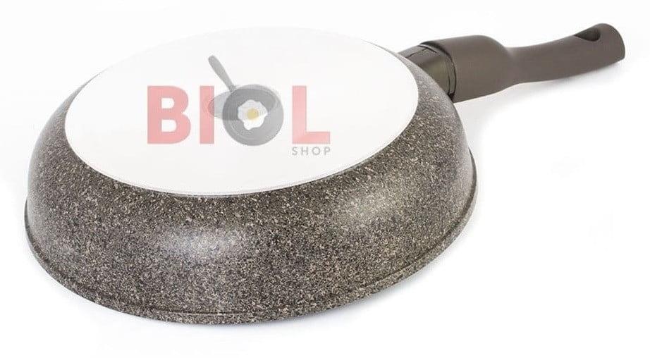 Антипригарная сковорода 24 см Гранит-Браун купить с доставкой по Украине