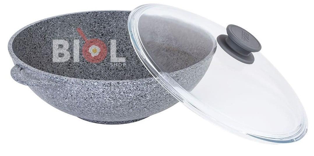 Антипригарный ВОК со стеклянной крышкой быстрая доставка