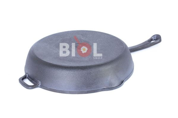 Круглая чугунная сковорода гриль с ручкой 26 см Биол недорого