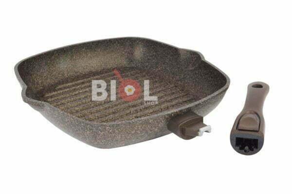 Загружен дляАнтипригарная сковорода-гриль 26 см Гранит-Браун Биол купить выгодно