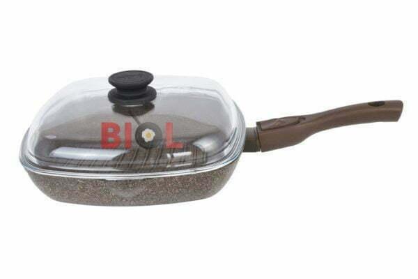 Антипригарная сковорода-гриль 26 см Гранит-Браун от Биол заказать недорого