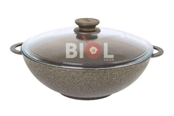 Сковорода Вок Биол со стеклянной крышкой заказать недорого