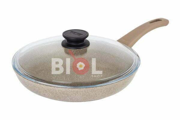Антипригарная сковорода с крышкой 18 см