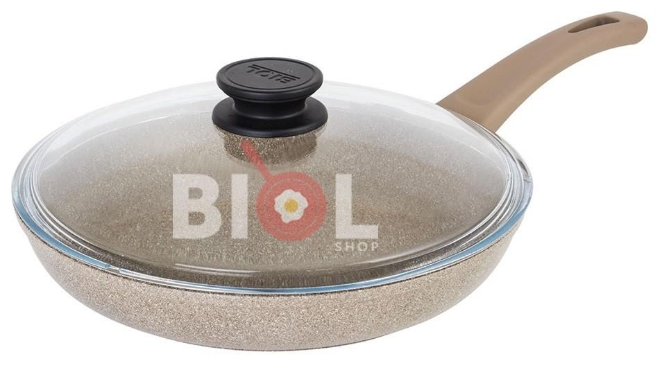Сковорода с крышкой 28 см антипригарная купить по отличной цене